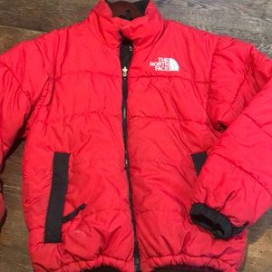 The North Face Vintage 90s Red Puffer Coat - Large